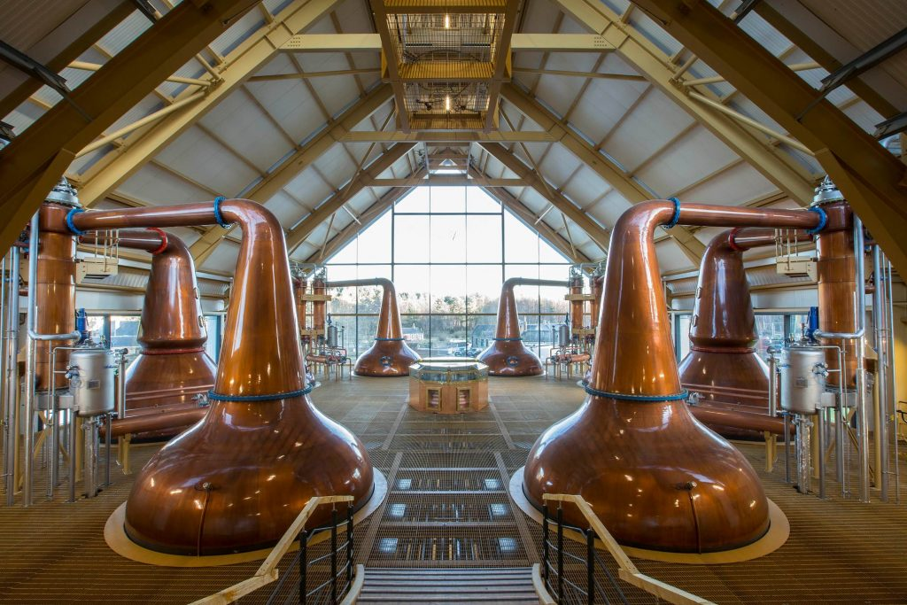 The brand new Dalmunach distillery for Chivas Bros (Pernod Ricard)