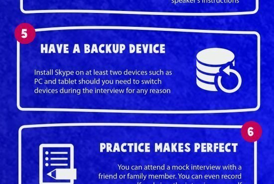 How To Ace Skype Based Job Interview Infographic